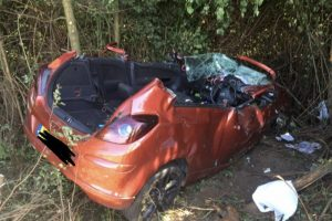 investigation launched after car rolls over near bournemouth