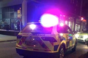 man taken to hospital following car and pedestrian collision in east london