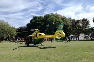 air ambulance called to buckland near portsmouth