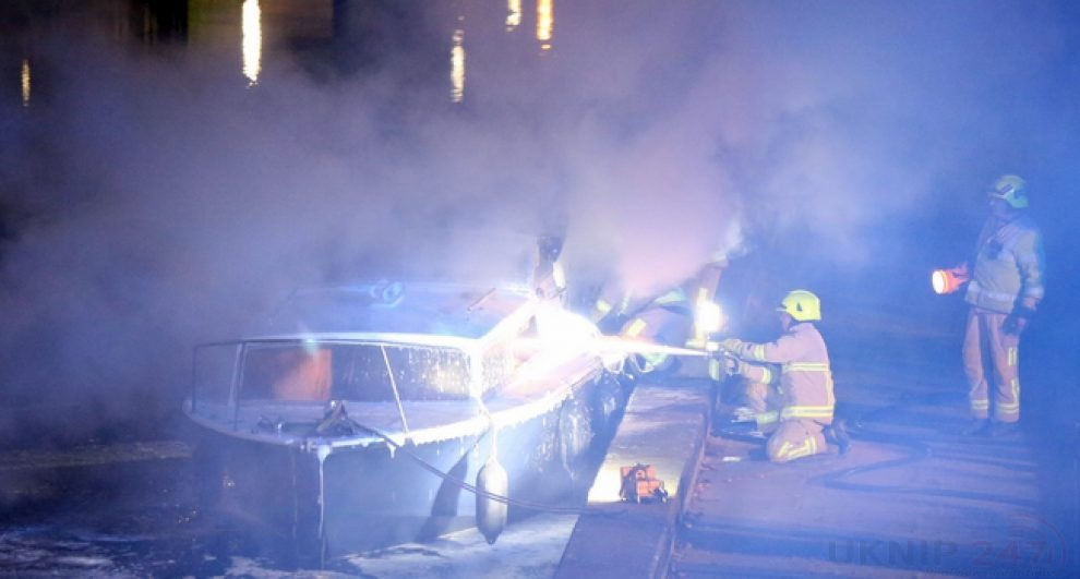 arson probe launched after yobs torch 150k cabin cruiser on the river medway in maidstone