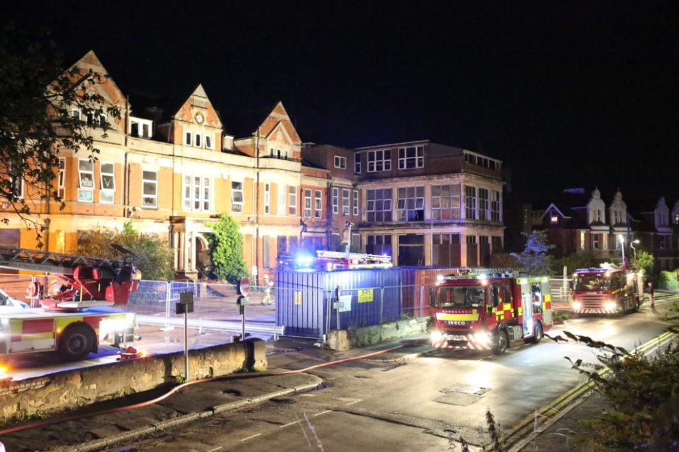 Joint Arson Probe Launched  After Yobs Torch Folkestone Hospital