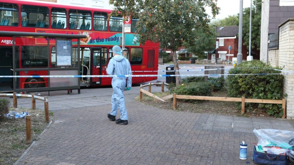 man fighting for his life after being stabbed on london bus in tottenham