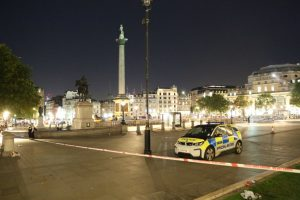 man rushed to hospital following stabbing in trafalgar square
