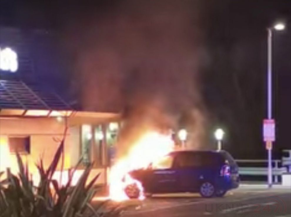 Mother And Daughters Lucky Escape After Car Bursts Into Flames