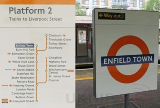two arrested after attack with a machete at enfield town station