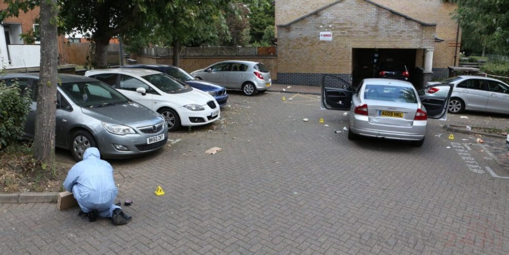 vehicle shot at and three stabbed in ilford