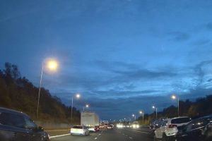 five vehicle collision on the m25 just before qe2 bridge