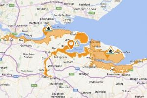 flood alert tidal medway medway estuary and isle of grain