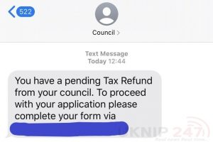 isle of wight council tax scam text