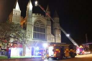kent firefighters learn how to tackled potentially devastating fire at rochester cathedral