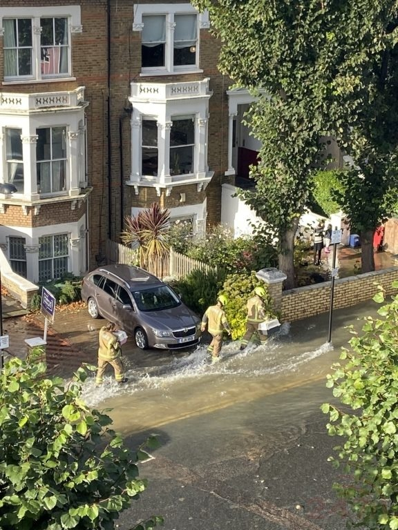 major flooding in north london