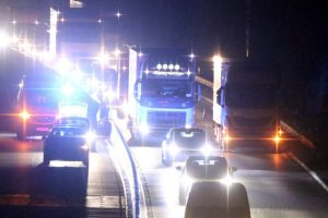 migrant falling from the back a lorry on the m20 in kent leads to the discovery of more stowaways