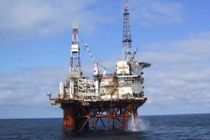 oil rig platform evacuated due to bad weather