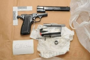 seven arrested after fire arms and drugs found