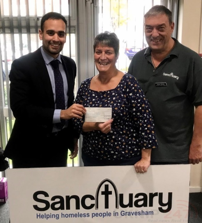 Kent Police Property Fund Helps Homeless Charity  In Gravesham