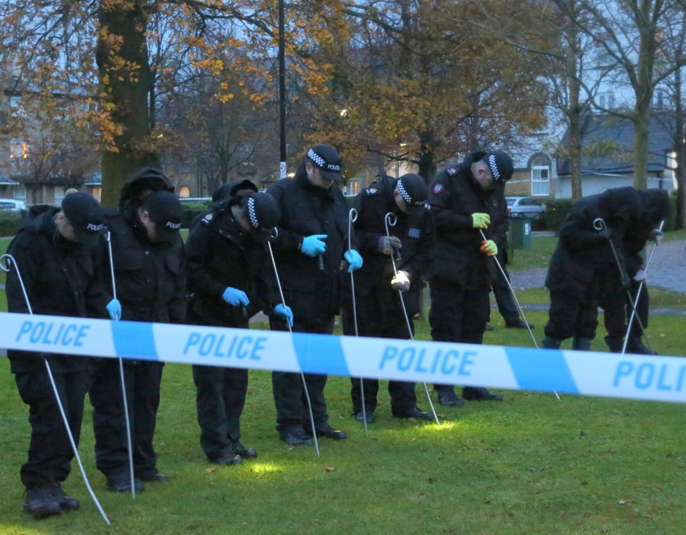 a man is in hospital with head and neck injuries after he was shot in caterham 1
