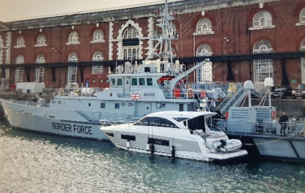 man charged after eight migrants found aboard a motor cruiser near portsmouth