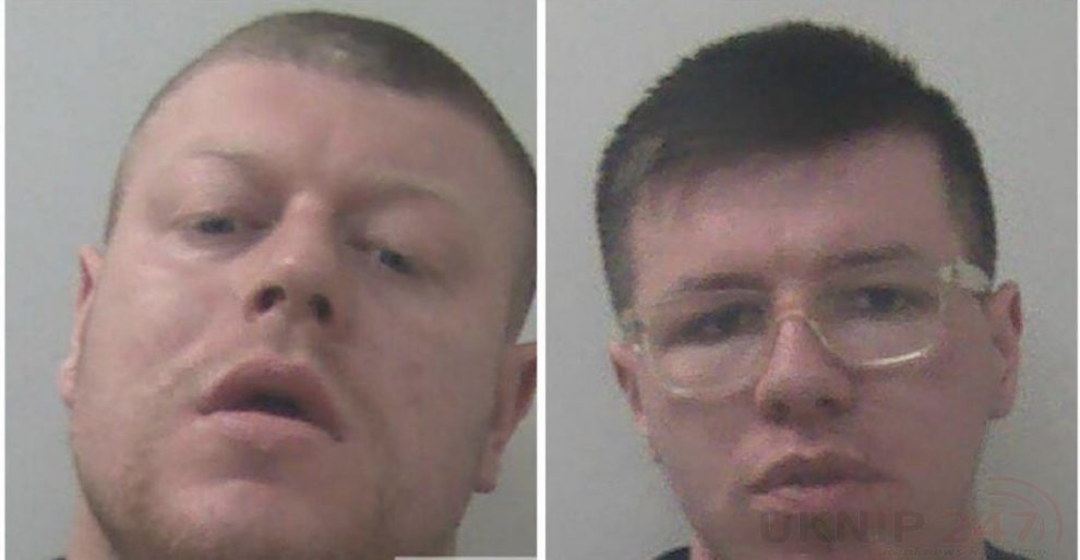 two men who deliberately placed needles and syringes in food products at an aylesford supermarket have been jailed