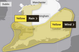yellow weather warning issued for the south and south east wales and the west