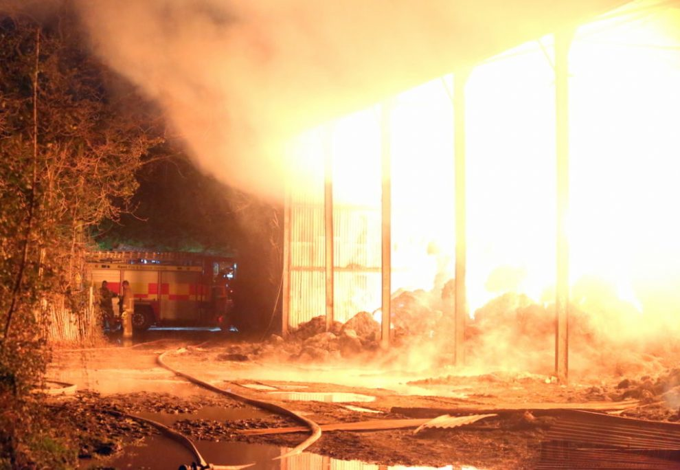 Arson Probe Launched After Marden Barn Is Torched With 350 Bales Well Alight