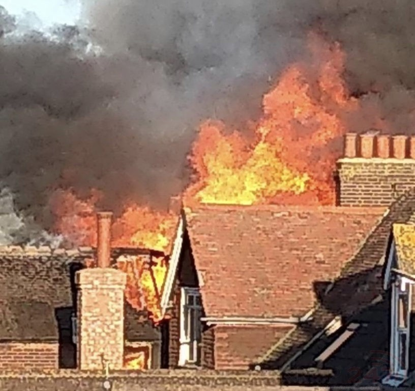 Blaze Rips Through  Three Folkestone Properties  As Two Pensioners Are Rescued