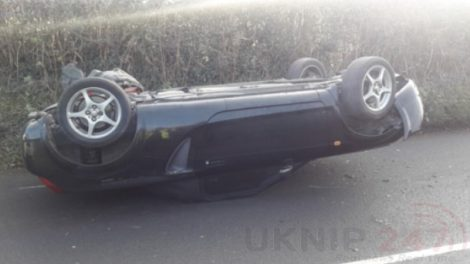 Police Hunt Driver  Who Rolls Vehicles And Makes Off