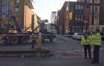 Woman rushed to hospital following lorry collision in  Islington, UKNIP