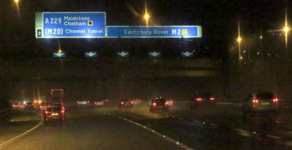 Police Hold M2 Motorway Traffic Following Concerns For Welfare On The  Medway Bridge Near Rochester