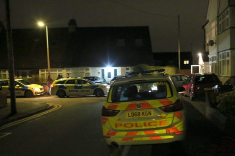 Residents' shock as armed police descend on street and surround house, UKNIP