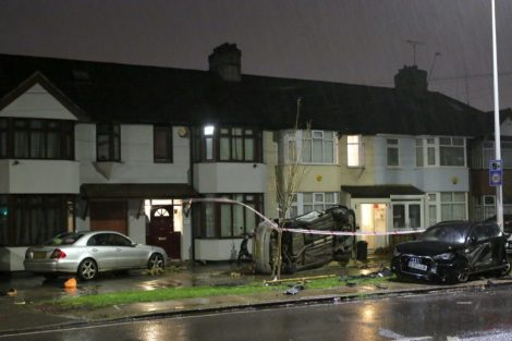 Resident 'could have been killed' as car is sent flying after late night collision, UKNIP