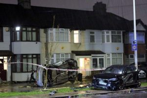Resident 'could Have Been Killed' As Car Is Sent Flying After Late Night Collision