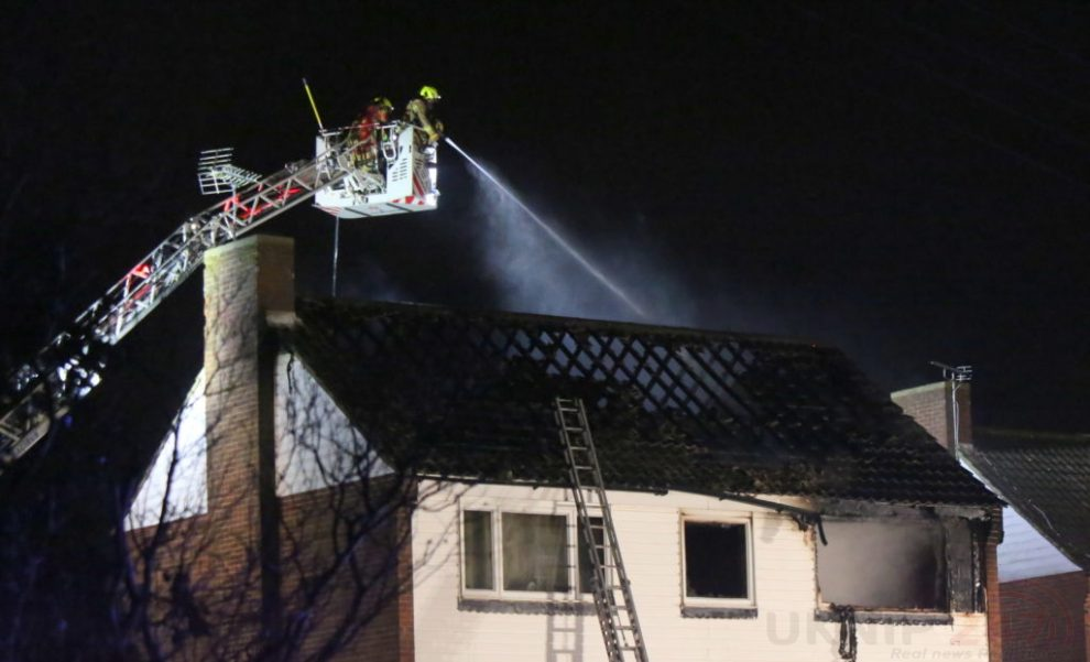 Family Left Homeless After Late Night Blaze Rips Through Mereworth Property