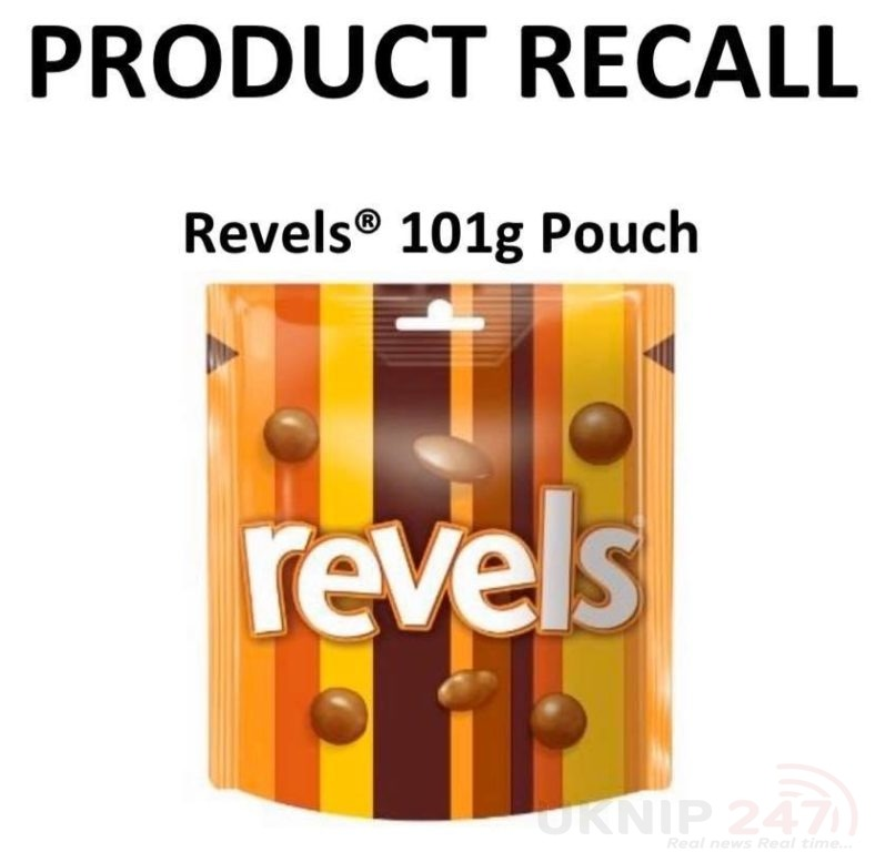 Mars Wrigley Uk Is Recalling Revels Pouches As They May Contain Small Pieces Of Metal Due To A Mechanical Breakdown
