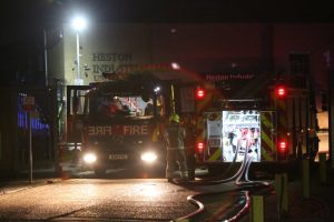 Fire Crews Called To Tackle Blaze  At Heston Industrial Mall In Hounslow