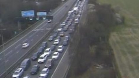 Serious Multi Vehicle Collision Has  Led To The Closure Of  The M40 Motorway  Near High Wycombe