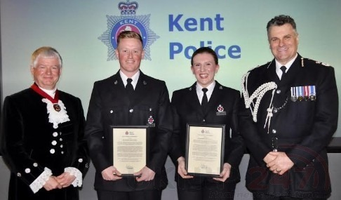 Officers Honoured By Kent's Chief Constable For Professionalism And Bravery