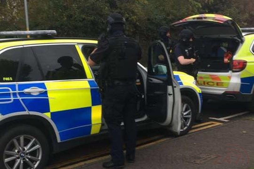 several armed police officers were at the scene ellie louise dadswell