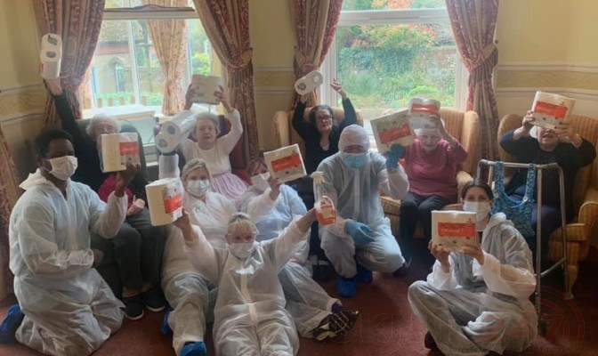 Coronavirus Pandemic care home staff show off their dancing skills