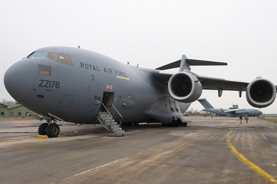 royal airforce flight has taken off from the uk to travel to turkey to pick up