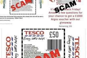scam email offering supermarket vouchers during covid19