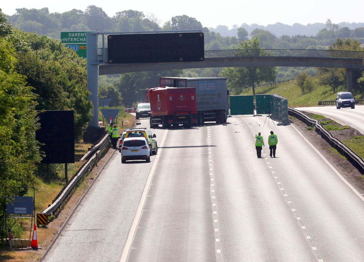 A2 remains closed following life changing collision involving two HGV and car, UKNIP
