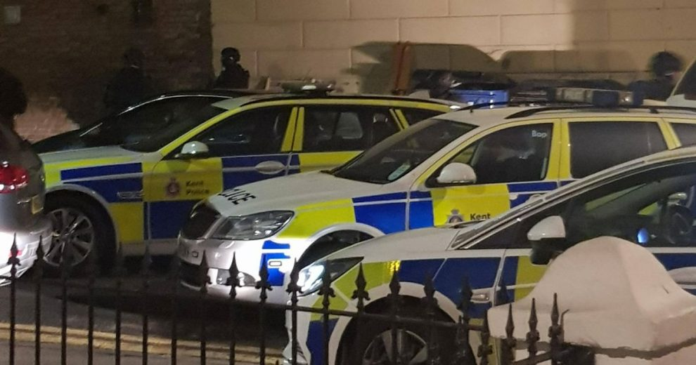 Armed police were in Athelstan Road