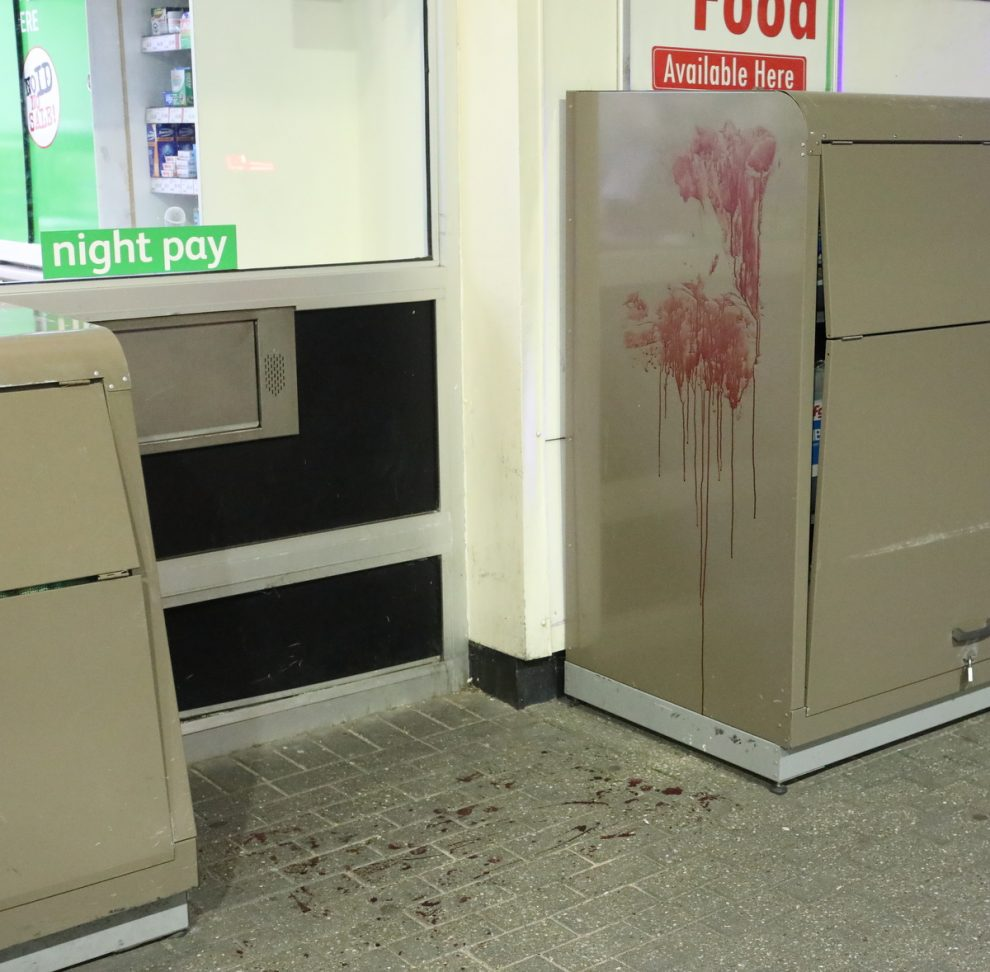 bloodbath on the forecourt after knife attack at bp abbeywood