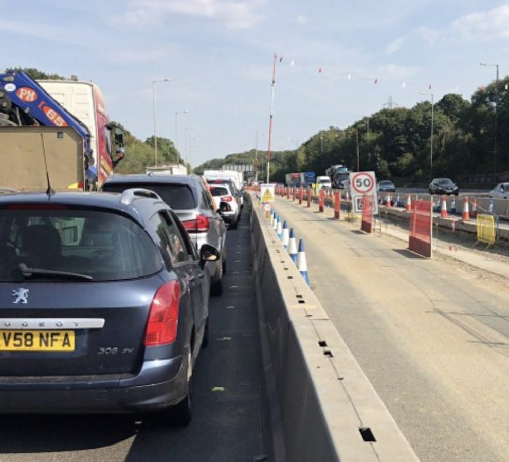 Severe delays on the A2  in Kent, due to a collision leaving  an 8 mile traffic jam, UKNIP
