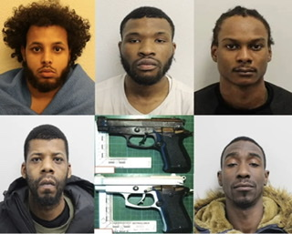 The men were sentenced at Snaresbrook Crown Court to seven years imprisonment each (a total of 35 years):, UKNIP