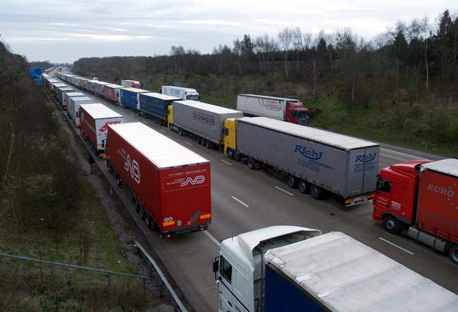 Operation Stack is due to be implemented on the M20 today due to industrial action in Calais, UKNIP