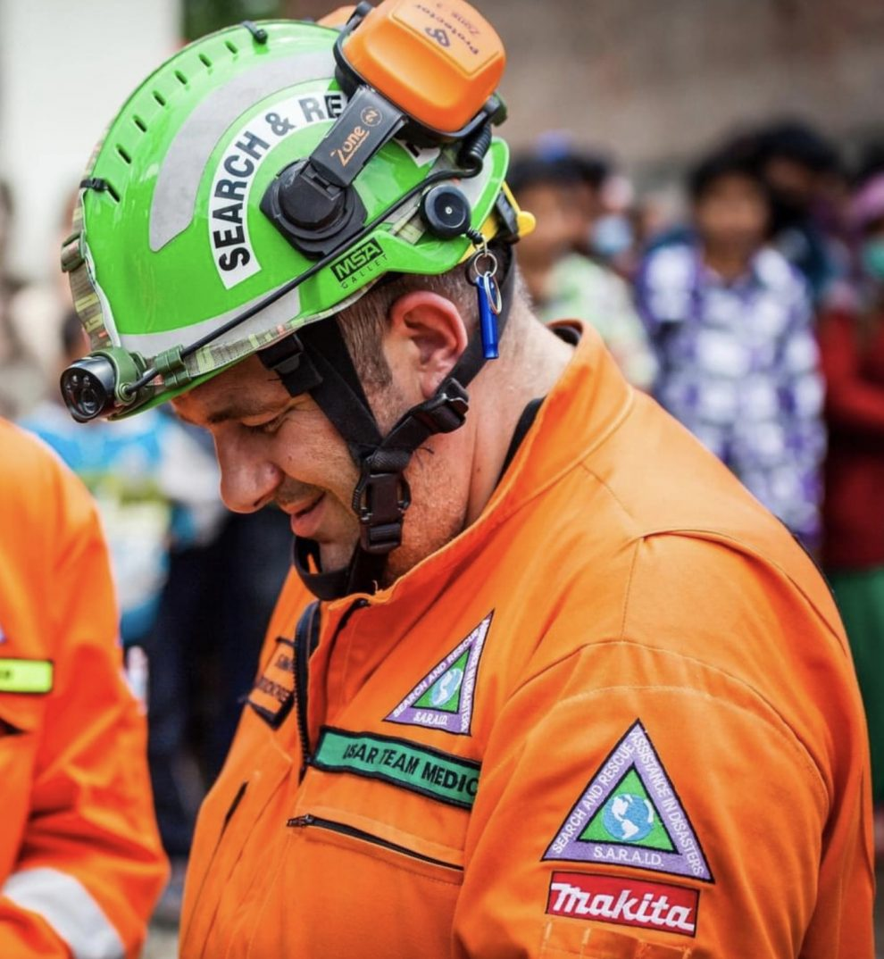 Simon had been an operational member of SARAID's International Response Team (USAR) for almost 10 years and had taken on the role of team medical manager, UKNIP