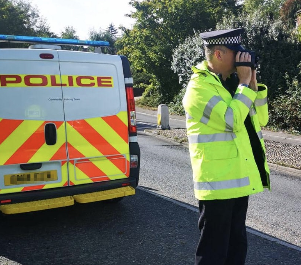 Nine motorists were issued with traffic offence reports for speeding, with the highest speed recorded being 52mph, UKNIP