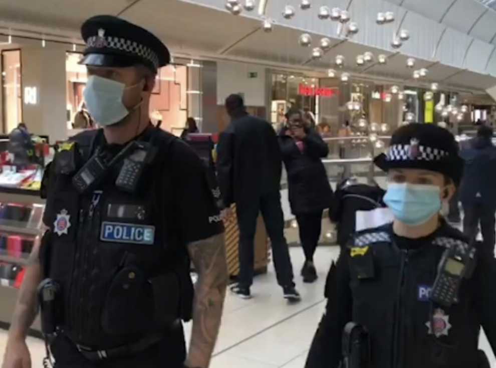 Extra patrols have taken place at intu Lakeside to support businesses after reports staff have been abused by people not wearing face coverings, UKNIP