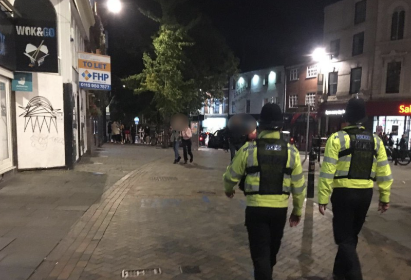 High visibility patrols were deployed in the city centre and across the county to help ensure people stayed safe and followed the guidance, UKNIP